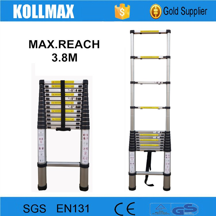 hot selling 3.8m aluminum telescopic ladder parts