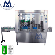 Compact footprint Simple Maneuverability Carbonated Drink Sparkling Water Club Soda Filling Machine / Canning Equipment Line