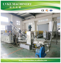 LVKE pp pe hdpe pelletizing machine plastic granulating line for Colombia