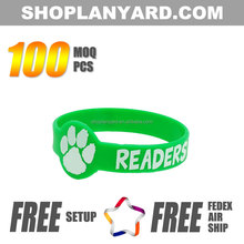 colored paw print rubber bracelet for a cause