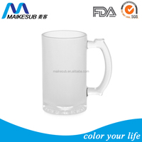 16OZ sublimation glass beer mug with you own logo