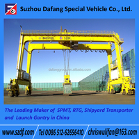 Rubber Tyre container gantry crane, container crane cost