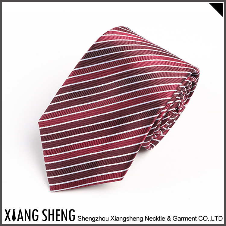 Hot Selling Woven Design Logo Mens Silk The Strip Neckties