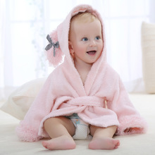 Wholesale 100% Cotton Baby Hooded Plain Cute Baby Bath Towel