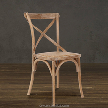 X back wood chair furniture wooden cross back dining chair