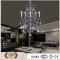Antique Wood beads chandelier for home and hotel pendant light in china