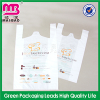 plastic bags with handle biodegradable t-shirts plastic Vest bag retail packaging