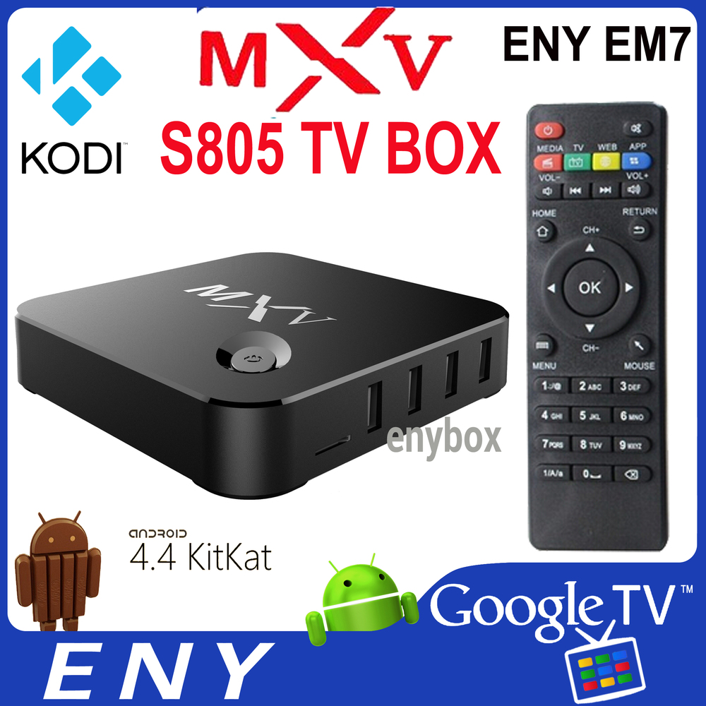 MXV 2.4ghz Quad Core wifi internet tv box Amlogic S805 MXV Google Tv BOX with 1080p