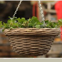 Exquisite handicraft hanging basket for orchid of vase flowerpots wicker basket