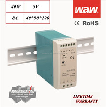 MDR-40 5V 40W Mini small size Din Rail power supply driver 110V/220V AC/DC wide constant voltage smps LED strip CE ROHS