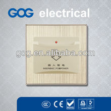 uk type aluminium wall switch, Insert card for power switch,electrical switch socket