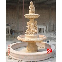 outdoor stone nude child fountain