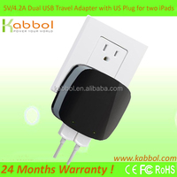 5V 4.2ADual USB Travel Mobile Wall Charger for Apple and Android Phones and Tablets: Apple iPad Air, iPad 2, Ne