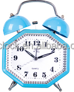 Hot Sale Medal Twin Double Bell Table Pretty Alarm Clock