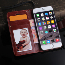 Wallet leather case/Leather flip case for iphone 6/6plus case leather