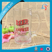 beer stein 0.5l glass beer mugs with handles cheap glass beer mug for drinking