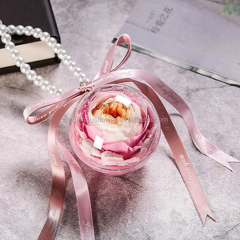 Eternal Flower in Glass for car hanging decoration