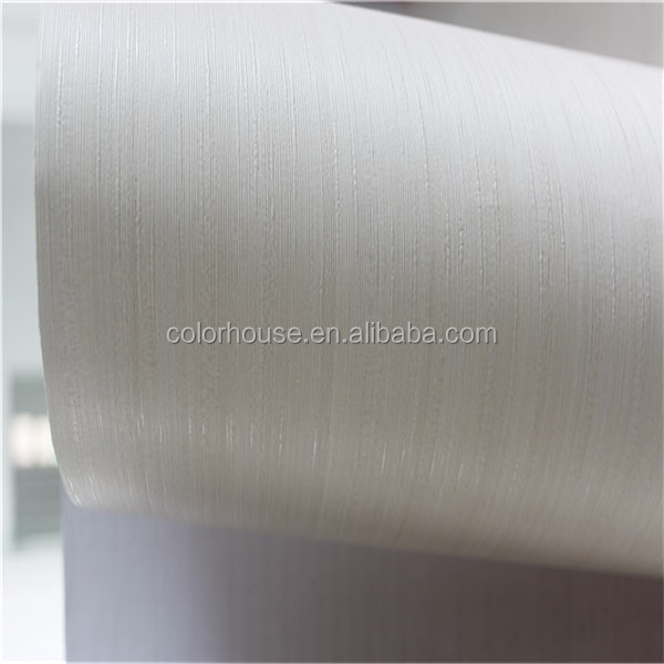 Simple designs for office self adhesive plain white wallpaper