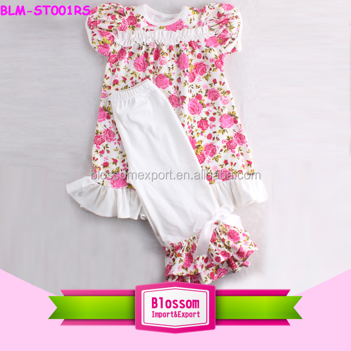 Top Selling Persnickety Baby Clothing Stylish Little Girls Boutique Remakes Flora Ruffled Pants Outfits