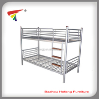 Metal bunk bed with wood slat ladder furniture