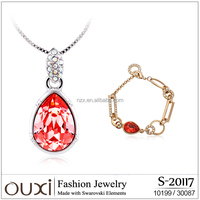 OUXI 2015 Women's gift cheap necklace and bracelet set S-20117
