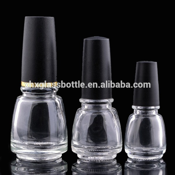 Wholesale Custom Made 14ml Small Skull Nail Polish Bottle With Cap And Brush