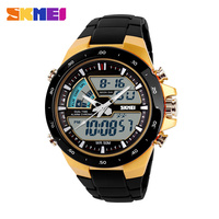 elegant sport men black big dial reloj advertising wrist watch