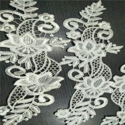 Hot sale polyester water soluble decorative lace trim