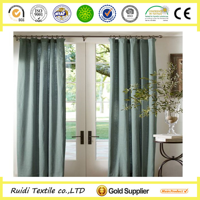 High Quality Ready Made Cotton Linen Curtain