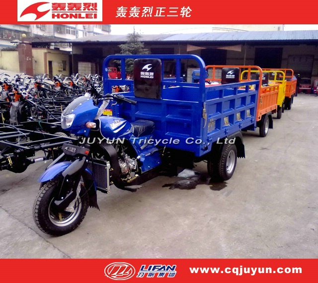 2017 Three Wheel Motorcycle made in China/LIFAN Motor Tricycle/air cooling engine Cargo Tricycle HL175ZH-A16