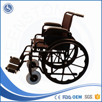 Widely used manufacturer for elderly swing away footrest manual wheelchair