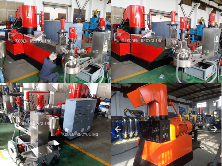 pp bags plastic washing and double stage pelletizing machine