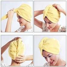 Super absorb water, Quick dry microfiber hair towel/turban/wraps