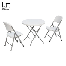 Manufacturers Supplier cheap outdoor lightweight plastic dining folding table patio furniture sets