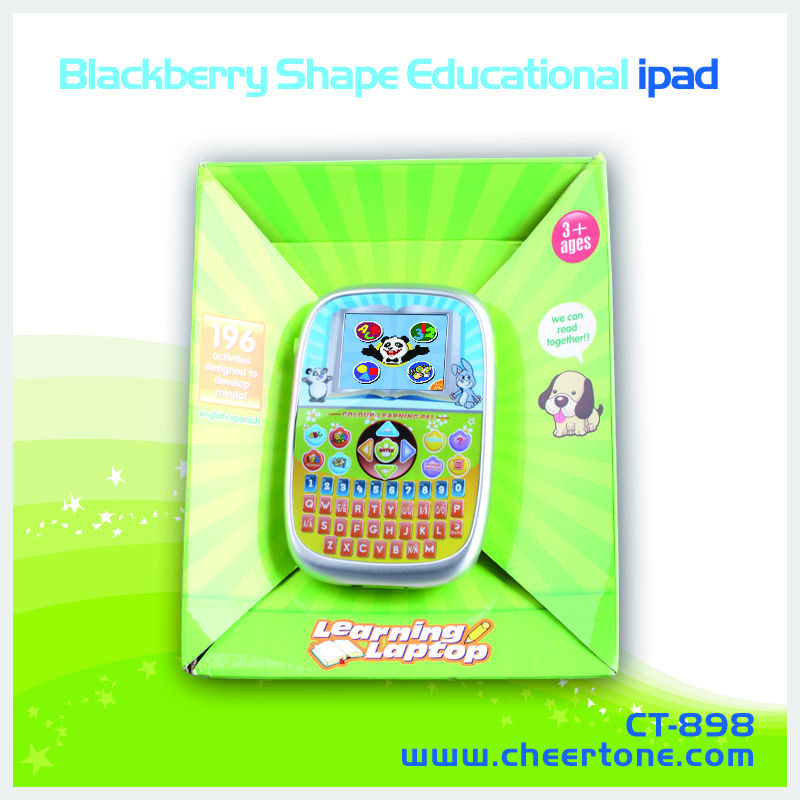 16 bit TFT 2.7 inch screen kids laptop toy which is spanish to english cheap educational toys
