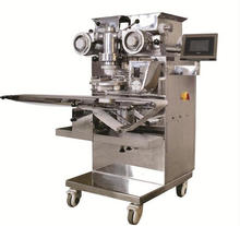 Automatic mochi ice cream machine/filled cake encrusting making machine/maamoul making machine