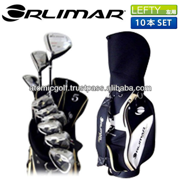 [lefty golf clubs]ORLIMAR golf ORM800 club set 10p (1W,4W,U5,#6-PW,SW,PT) with caddy bag