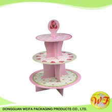 Decorative Colorful Paper Card Cake Plate Cup Cake Stand For Birthday