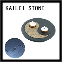 Chinese Traditioanl Culture Slate Natural Candle Holders