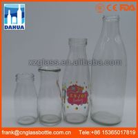 Low MOQ market-oriented small glass milk bottles