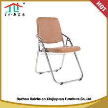 New PU Seat & Metal Chromed Legs Folding Dinning Chair
