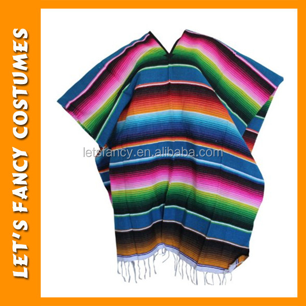 PGPF0009 Wholesale Factory Price Adult Mexican Costume Cape For Halloween Custom Mexican Poncho