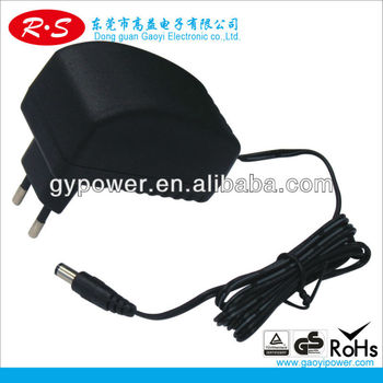12v 200ma Power adapter with CCC, KC, FCC, CE, ROHS certificate