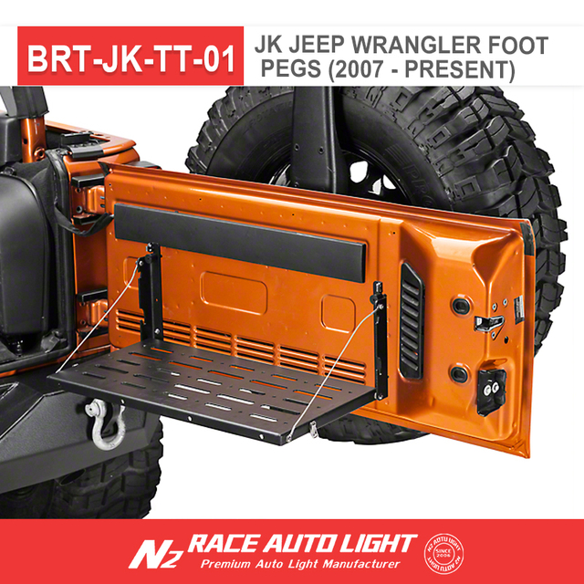 N2 RACE AUTO wholesale exterior parts 07-17 Jeep Wrangler Rear Tailgate Utility Shelf Cargo Storage Rack Camping Table