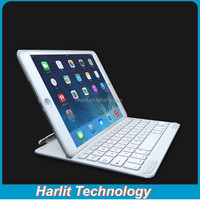 For iPad Air 2 Ultrathin Aluminum Bluetooth Keyboard Cover Case White 7 Color Back Light