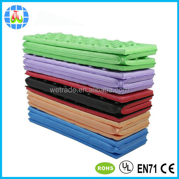 EVA/XPE material recycle foam cushion for outdoor stadium use