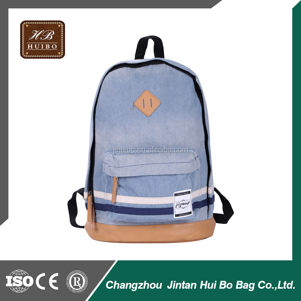 2014 Cheap High School Canvas Backpack Bag Unisex Schoolbag