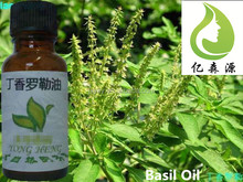 100% Natural Essential Oil Bulk Basil Oil Price Clove Basil Oil