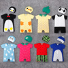 Alibaba China Wholesale 2 Pcs Newborn Baby Summer Clothes Organic Cotton Fruit Animal Romper