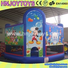 Kids play jumpers, mickey mouse jumping castles